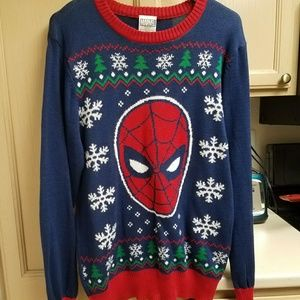 Men's Spiderman Christmas Sweater